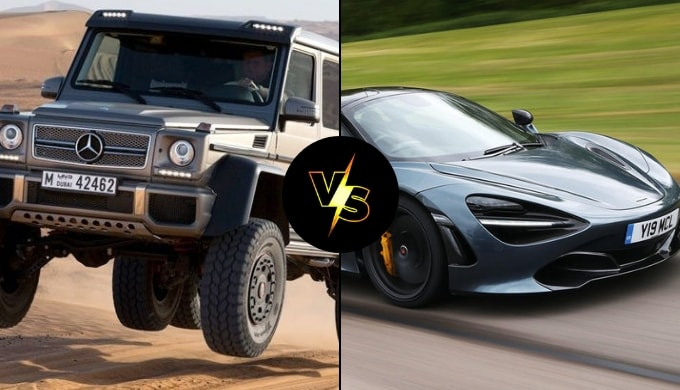 off road vs super car